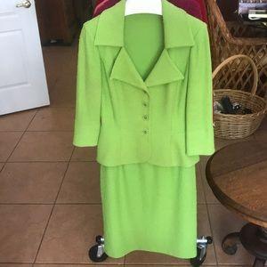St. John green skirt suit